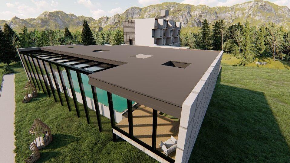 dach szklany szklo hartowane wizualizacja