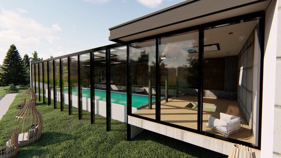 dach szklany szklo hartowane wizualizacja widok